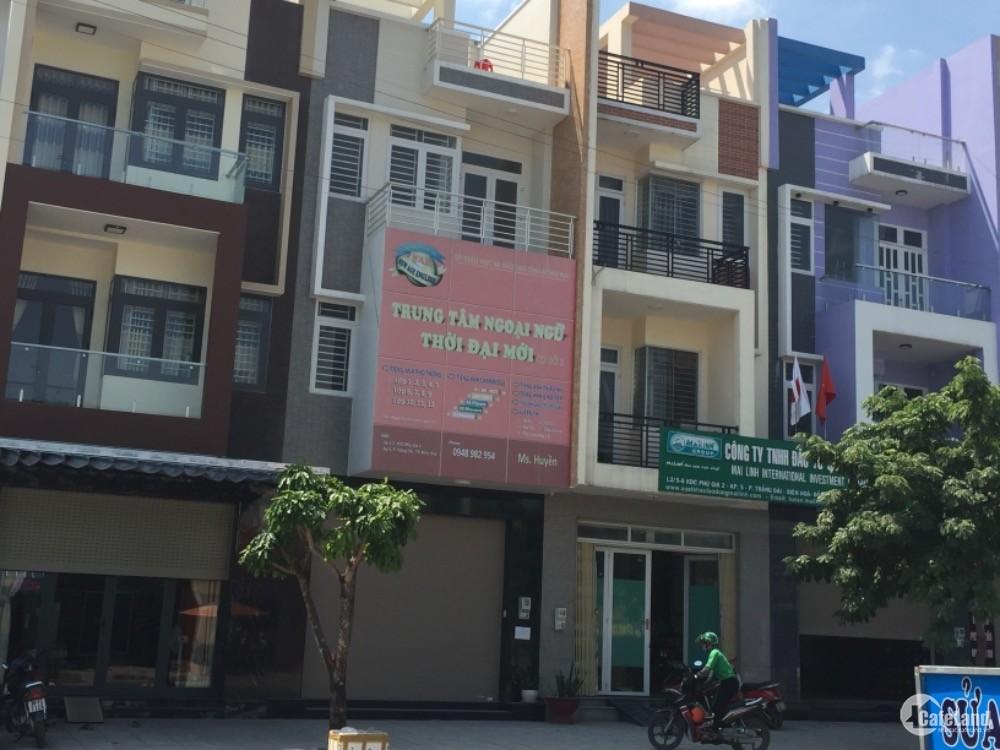 Cho Thuê Nhà mặt tiền  Kdc Phú Gia 2, Ngã tư Nguyễn khuyễn, tráng  dài ,biên hoà