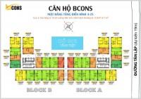 Chính chủ bán gấp căn hộ Bcons Miền Đông - 2PN 2WC - diện tích 53,55m2