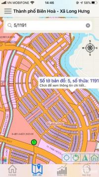 Bán lô đất mặt tiền đường 33m khu đô thị Long Hưng Biên Hòa