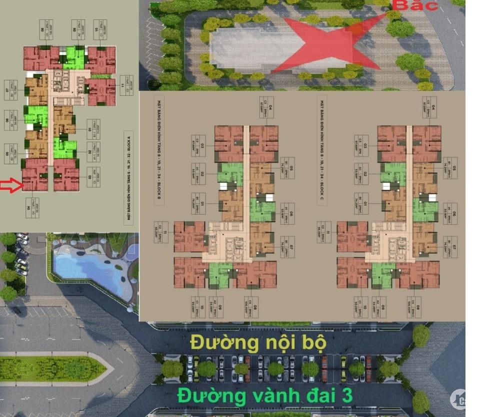 Chính chủ bán cắt lỗ 200 triệu căn hộ 3 phòng ngủ tại dự án The Zen Garden