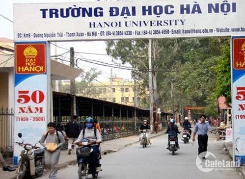 Bán nhà mặt tiền Đường vào Đại Học Ngoại ngữ,Thanh xuân,Hà Nội