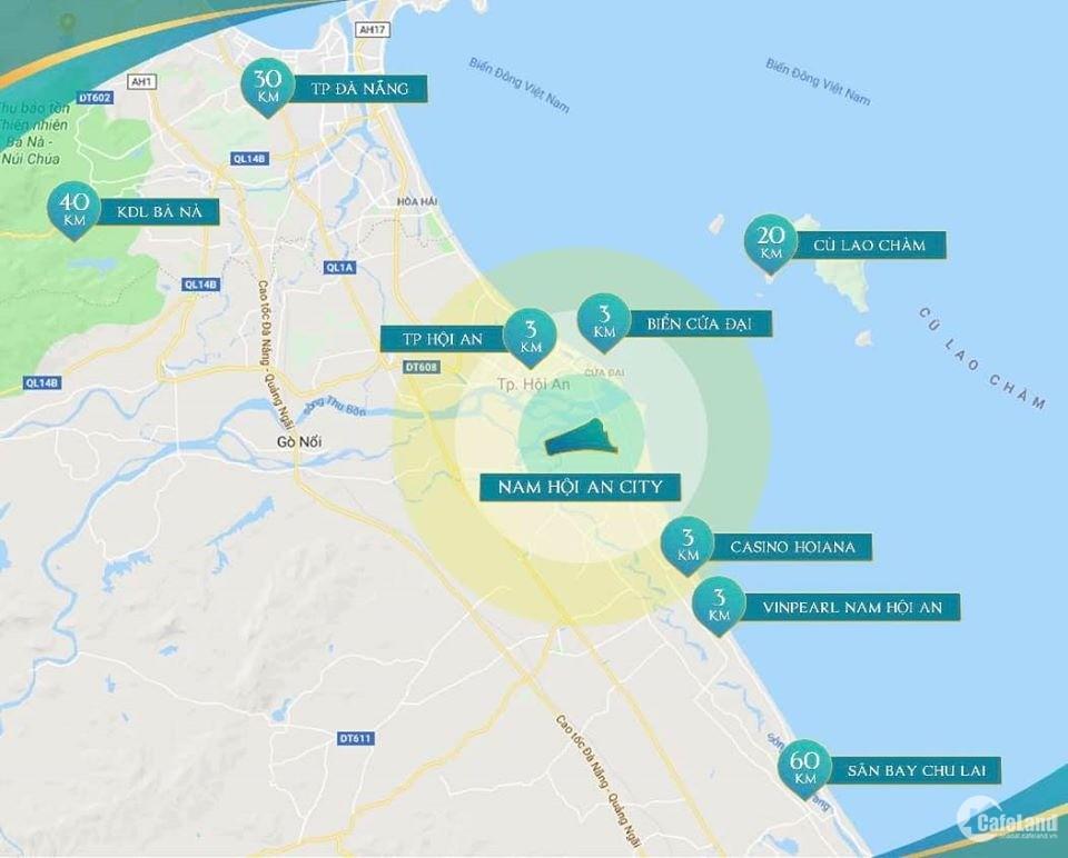 Mở bán khu đô thị Nam Hội An city, giá gốc từ CĐT, chiết khấu 5% chỉ từ 1,825 tỷ