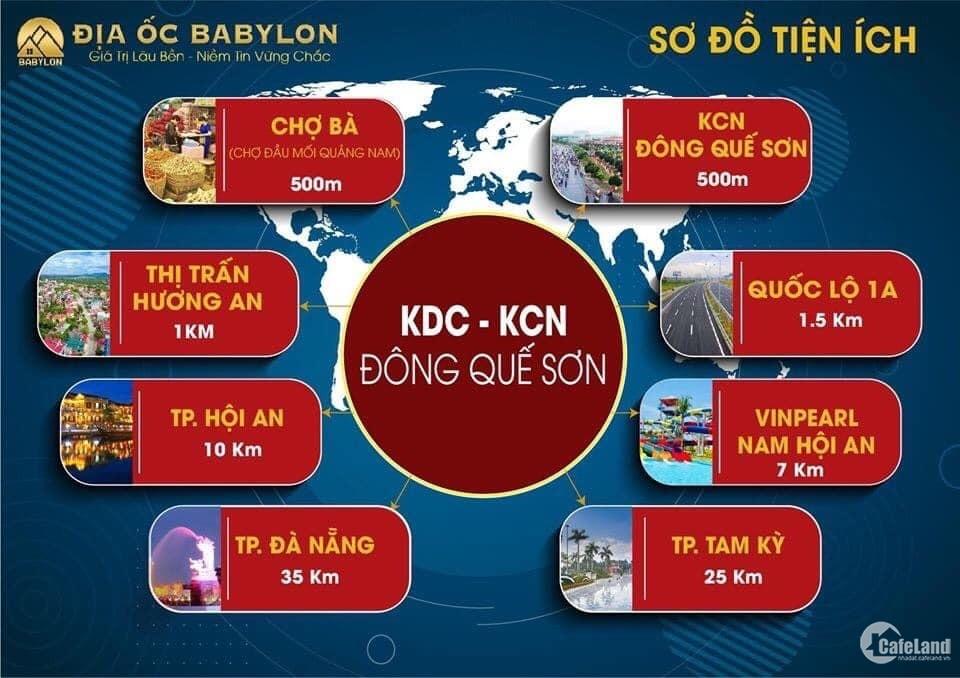 Đất ở Quảng Nam giá rẻ kcn Đông Quế Sơn