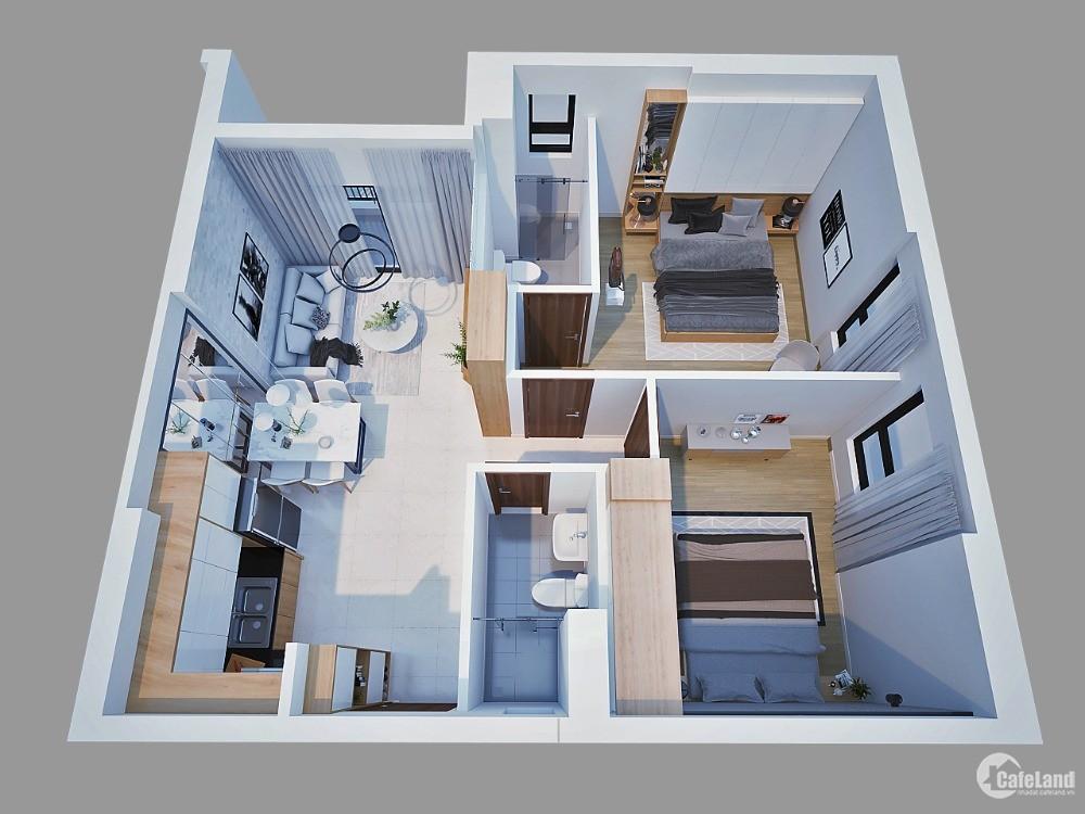 Sở hữu căn hộ 2PN - 55.88m2 ngay trung tâm hành chính Dĩ An chỉ 500tr