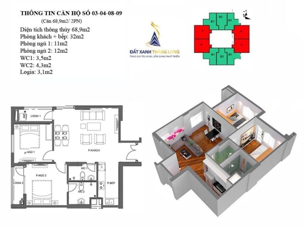 Bán hòa vốn căn thương mại 68.9m2 tòa M4, M5 - Mipec City View - trung tâm HĐ