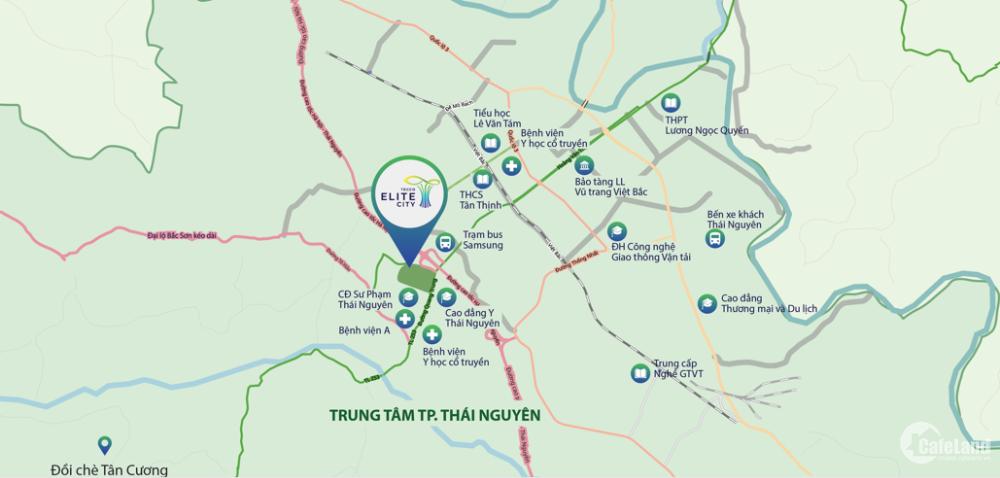 Căn hộ cao cấp Tecco Elite City vị trí lõi trung tâm Thái Nguyên, tiếp cận 4 mặt
