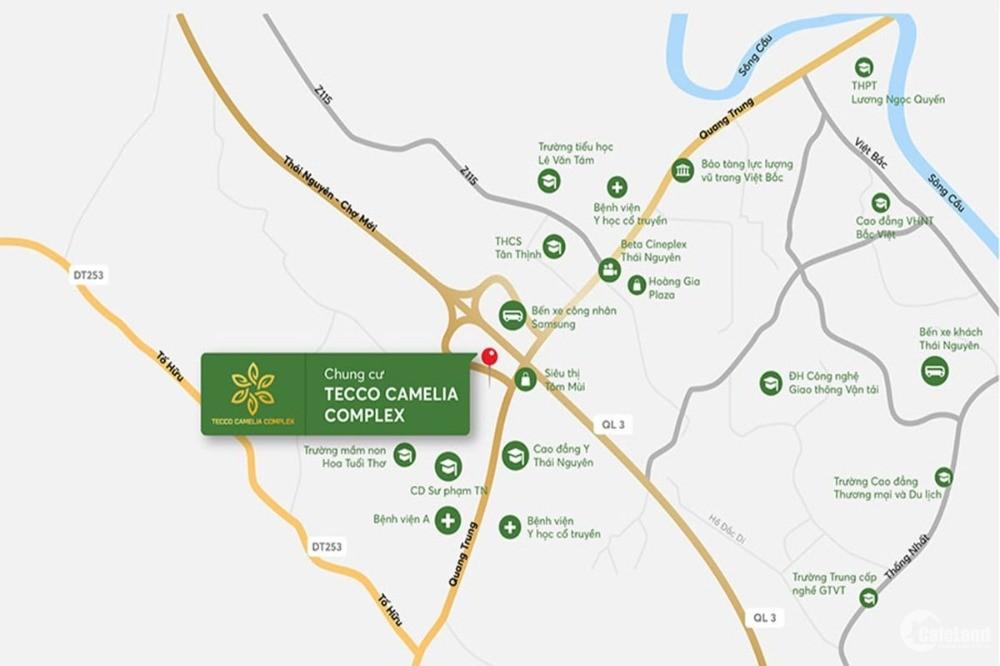 Mở bán đợt 1 giá từ 14,9 triệu /m2 dự án chung cư Tecco Elite City Thái Nguyên