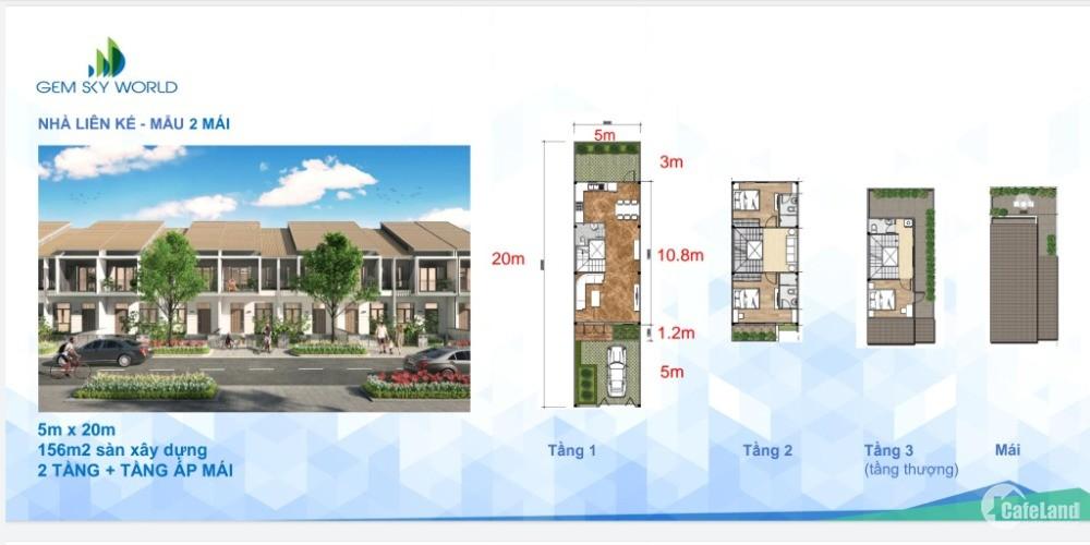 Mua nhà xây sẵn 100m2 DT 5x20 với 960tr lại gần sân bay.