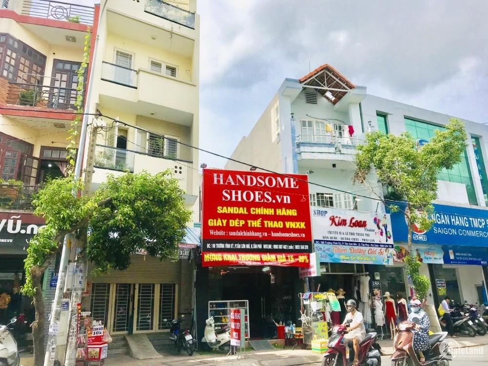 Nhà mặt tiền đường Trương Vĩnh Ký, sát ngã tư Tân Sơn Nhì.DT 4.1x15m.Giá 11.8 tỷ