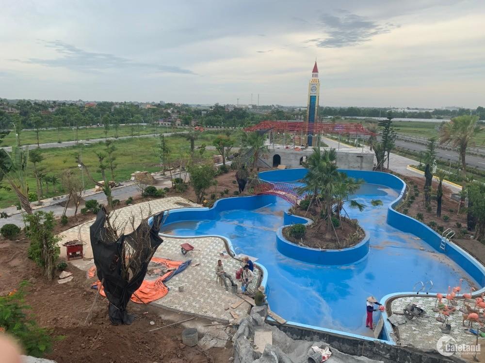 Chỉ 1 lô duy nhất giá 5,8tr/m2 tại dự án đất nền sổ đỏ có bể bơi ở Hưng Hà