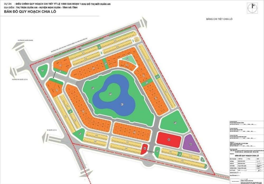 Bán đất kinh doanh khu đô thị Xuân An , Nằm ngay mặt đường đi Xuân Thành