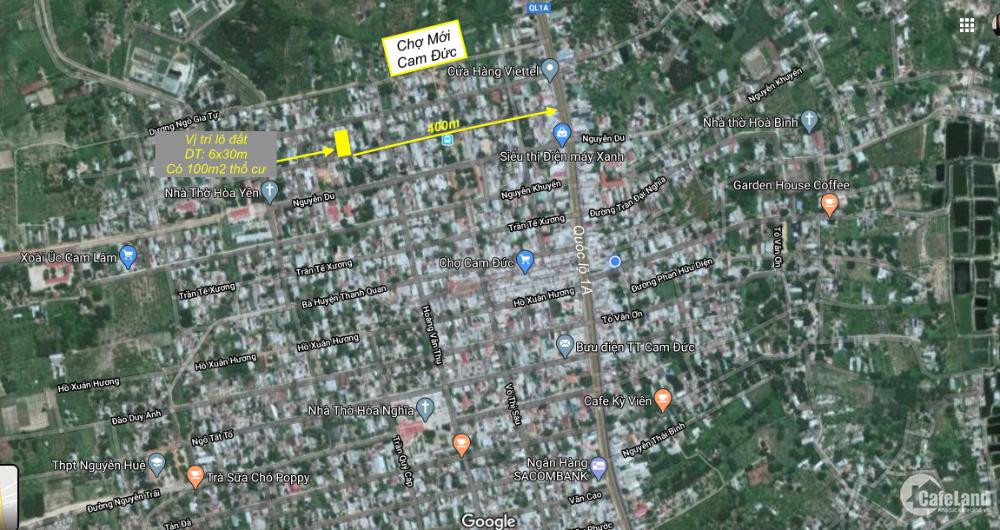 Mặt tiền Trương Vĩnh Ký bán rẻ, đất thổ cư cách Quốc lộ 400m đường lớn 13m