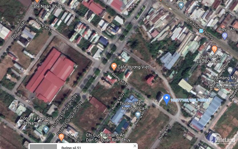 99m2 thổ cư. Nền đối diện trung tâm hành chính quận Bình Thủy - Cần Thơ