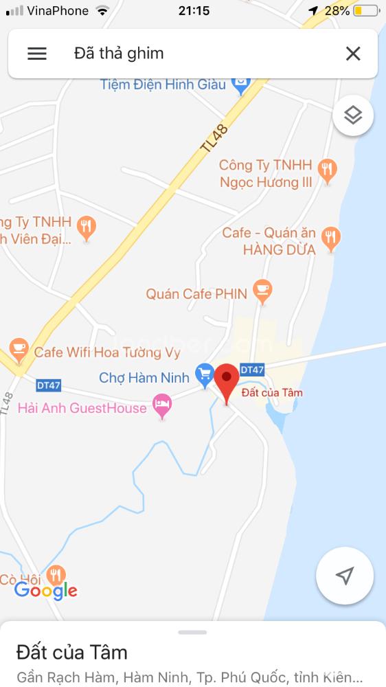 Cần bán gấp đất thổ cư chính chủ 315.2m2 tại Hàm Ninh, Phú Quốc giá 11.5 trđ/m2.
