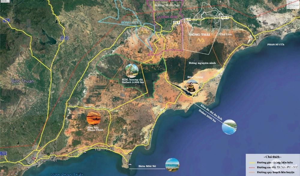 Đất Bình Thuận giá rẻ chỉ với 50.000/m2 liền kề biển Mũi Né