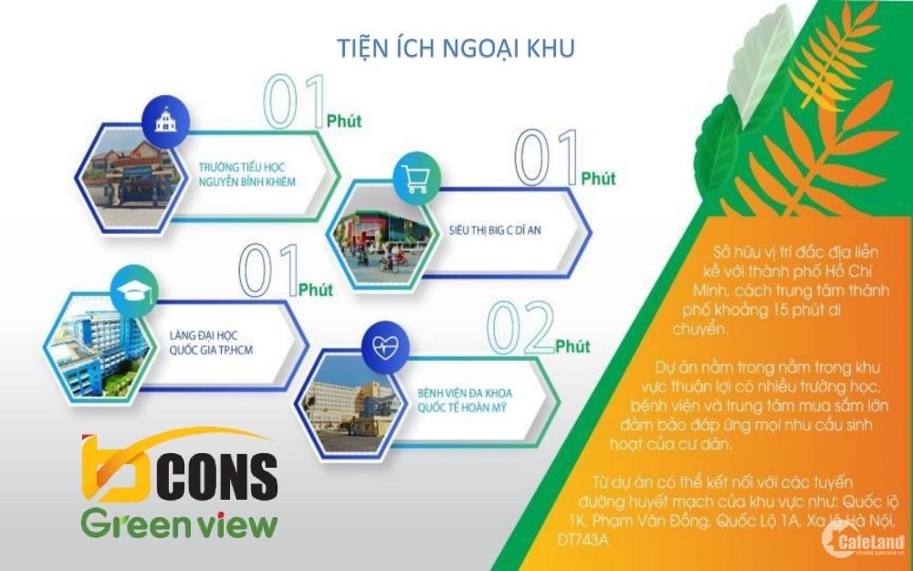 Căn hộ Bcons Green View đối diện siêu thị BigC, thanh toán chỉ 500 triệu sở hữu.
