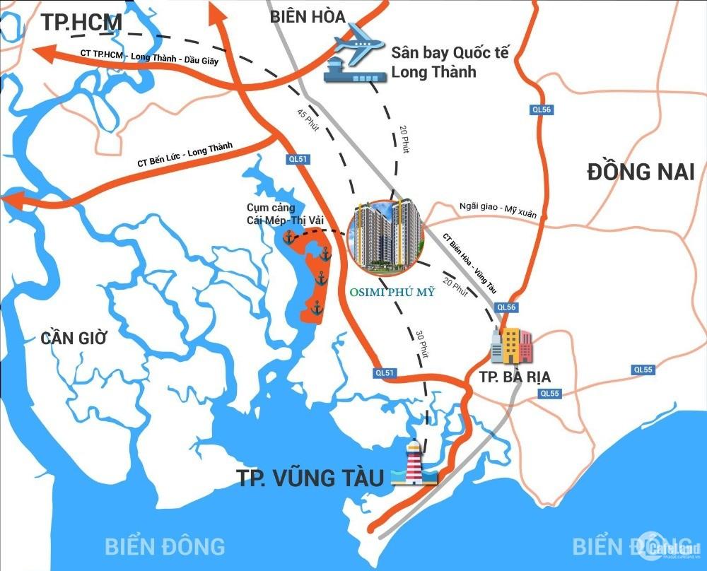 OSIMI PHÚ MỸ - Thông tin dự án căn hộ giá dưới 1 tỷ tại Phú Mỹ, Bà Rịa Vũng Tàu