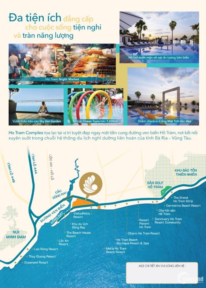Căn hộ Hồ Tràm Complex- chỉ 1.4 tỷ/ căn 2PN , thanh toán 1% tháng,LH:0903239035