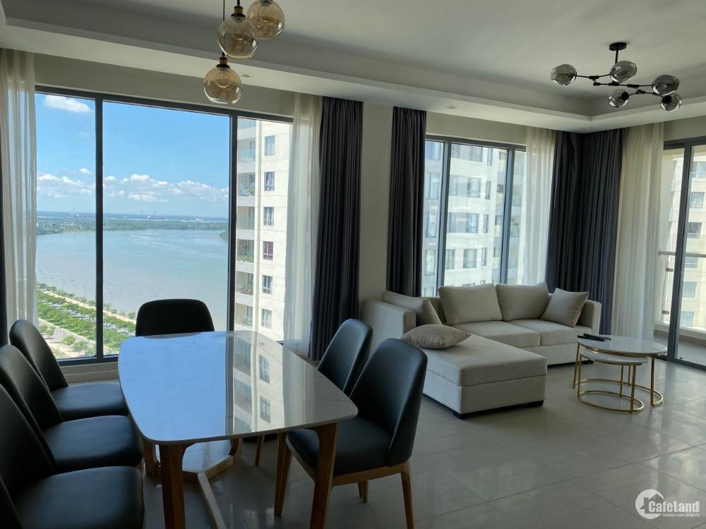 Cho thuê 3PN view sông SG, diện tích lớn đầy đủ nội thất cao cấp, 40 triệu