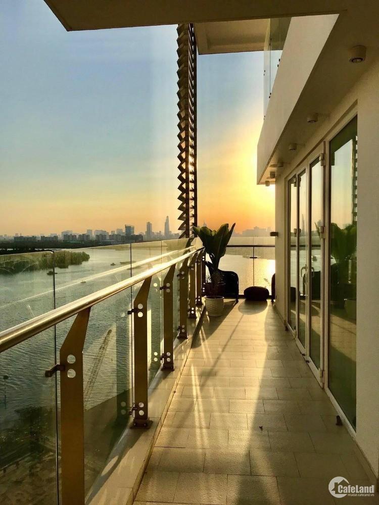 Cho thuê Duplex 3PN ban công và PN view trực diện sông SG, 231 m2 full NT, 3500$