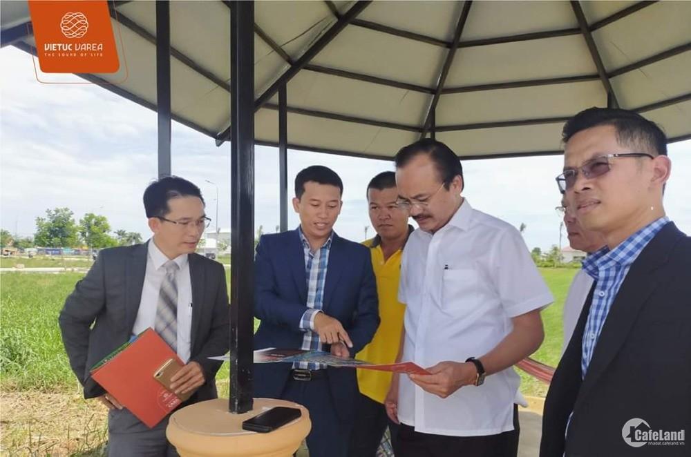 Bán đất KDC VIETUC VAREA mặt tiền VÀNH ĐAI 4, giá 14,2 triệu/m2