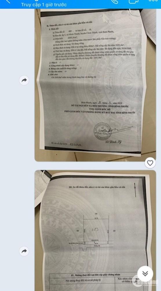 Bán đất 2 mặt tiền ngay cổng Khu Công Nghiệp Becamex- Giá chỉ 140 Triệu/m Sổ Đỏ