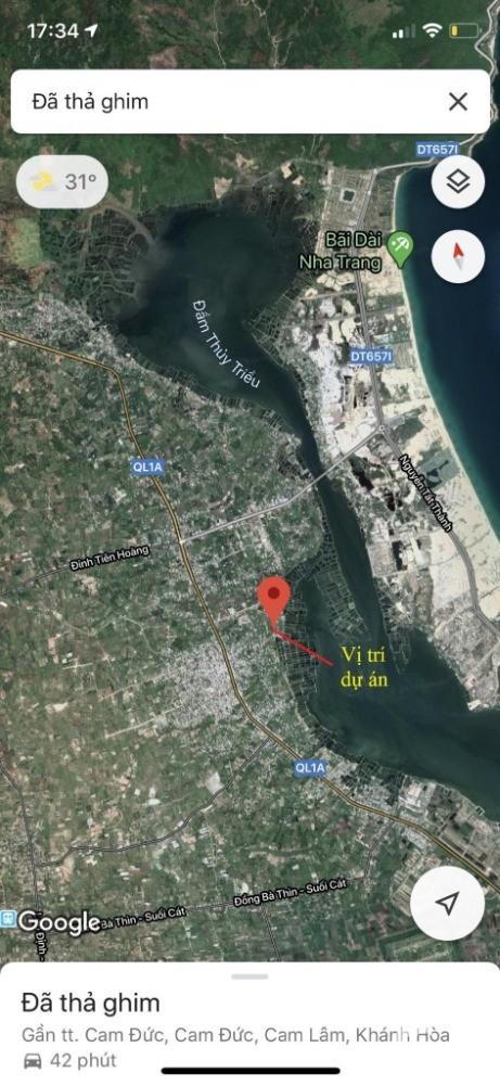 Đất nền thổ cư ven đầm thủy triều gần sân bay quốc tế Cam Ranh đã có sổ đỏ