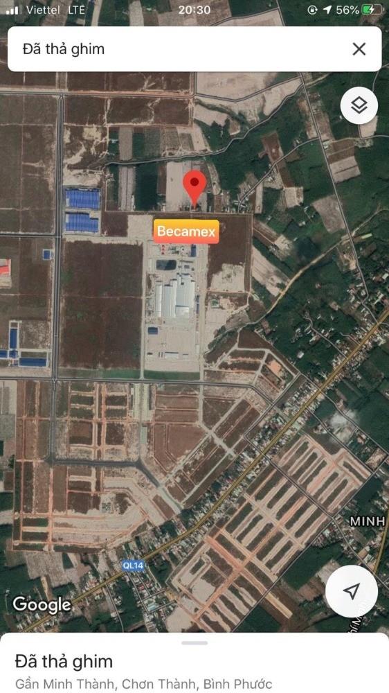 Bán đất 2 mặt tiền ngay cổng Becamex  Giá chỉ 140 Triệu/m, thích hợp kinh doanh