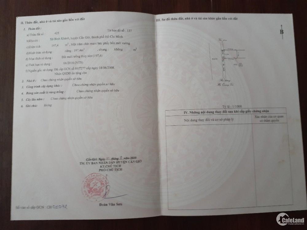 Chính chủ bán 499m2 đất thổ cư ở đường Hà quang Vóc