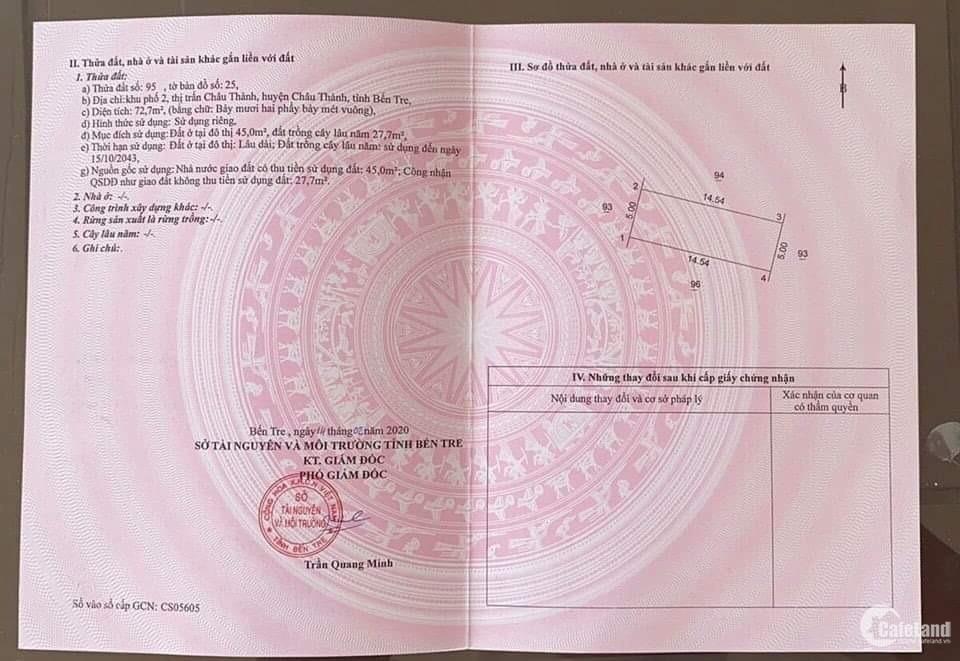 Chỉ 30 lô thuộc khu khép kín an ninh, ngay UBND TAND Châu Thành, sinh lời mạnh.