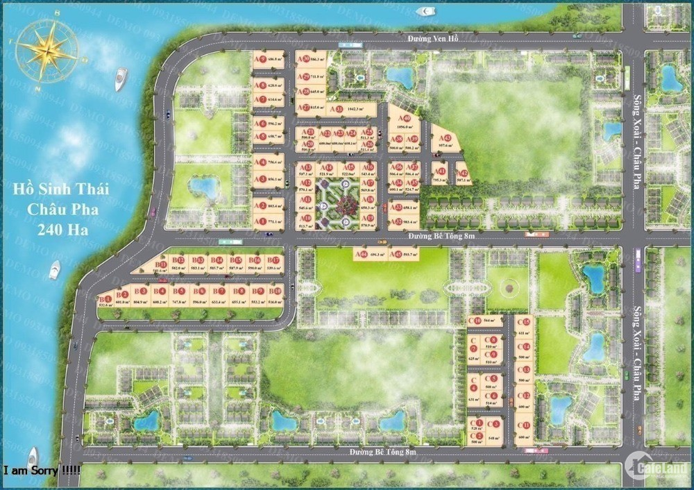 đất nền biệt thự thị xã phú mỹ gần hồ châu pha ?