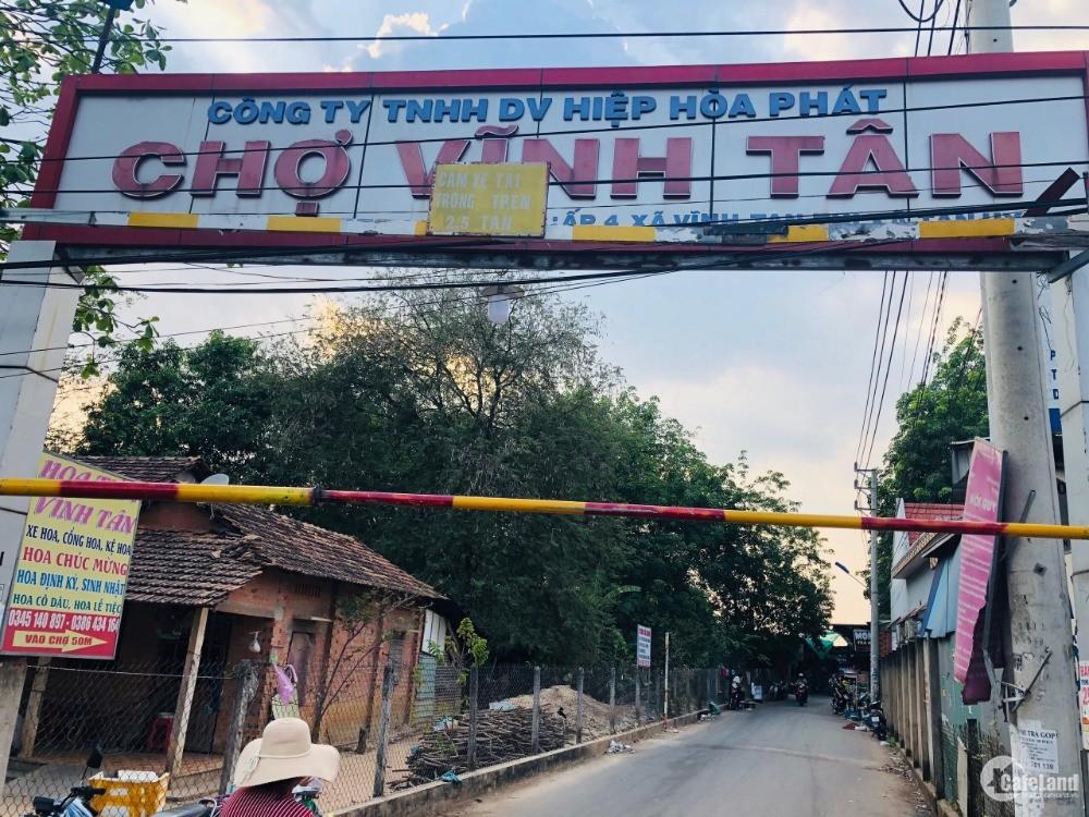 Đất nền giá rẻ ngay chợ Vĩnh Tân, Bình Dương, cạnh cổng KCN Visip 2A