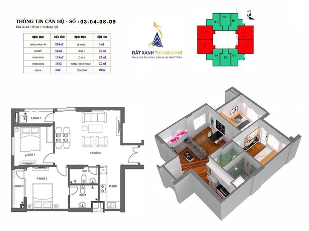 Chính chủ cần bán nhanh căn hộ tại chung cư Mipec Kiến Hưng Hà Đông