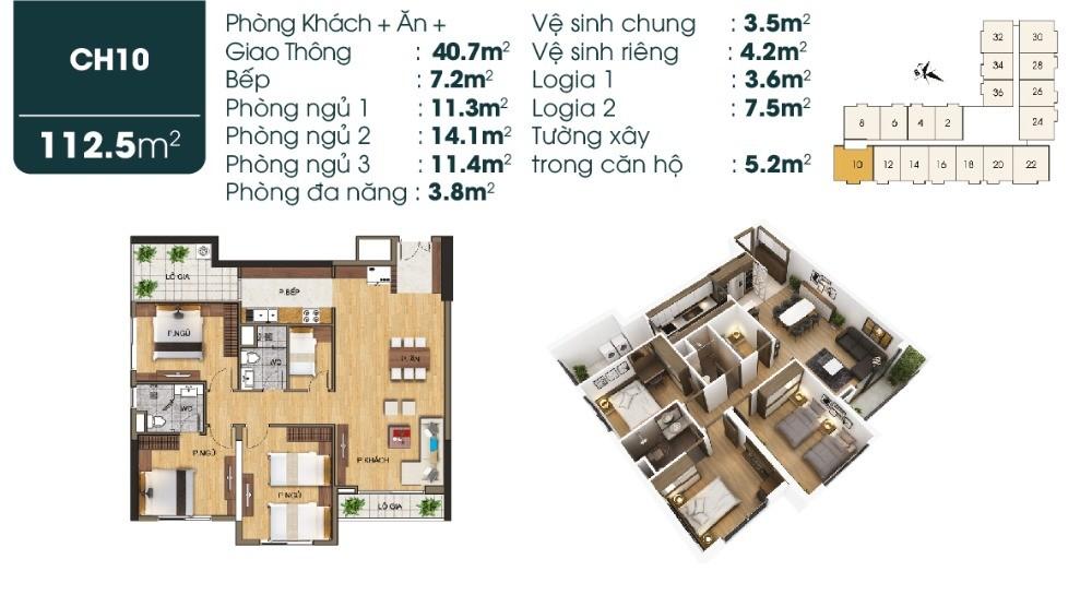 Bán nhanh căn chung cư 3PN tại Sài Đồng, giảm 400 triệu so với giá gốc