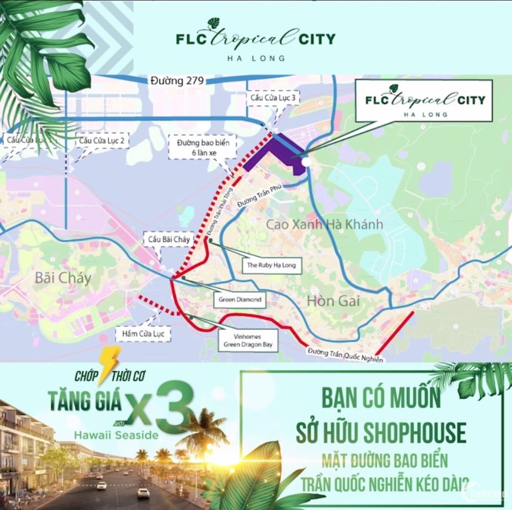Sale sốc 5 căn mặt biển FLC Tropical City Hạ Long, đường 31m, giá rẻ