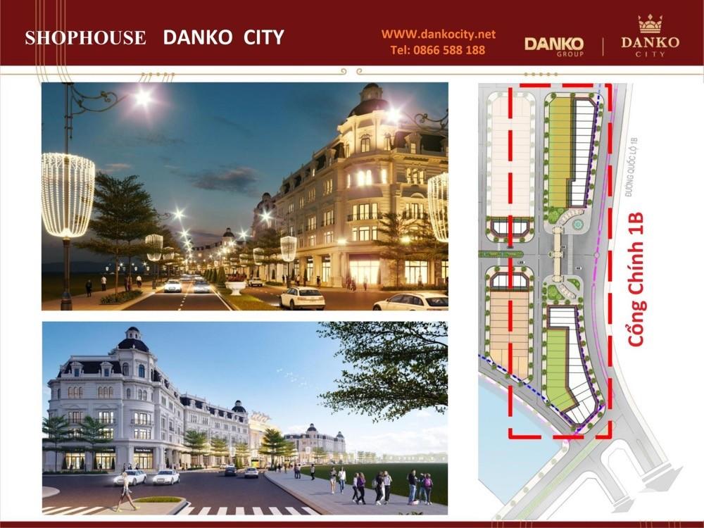 Shophouse Danko City đường 30m sát trung tâm thương mại