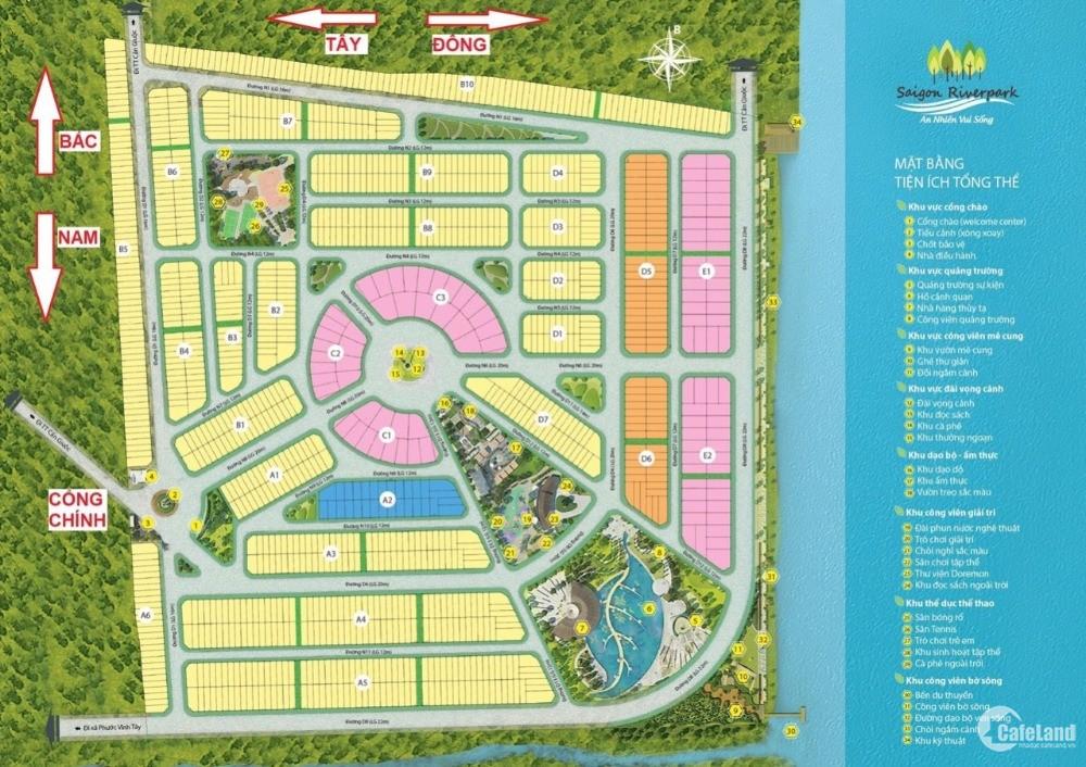 Thanh toán nhận sổ ngay đất nền ven sông dự án Saigon Riverpark giá 13tr/m2