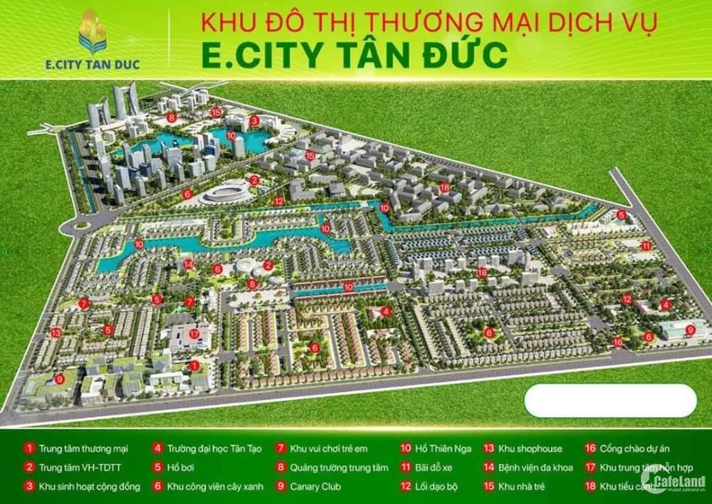 Đất mặt tiền đầu tuyến đại lộ Long An của dự án E.City Tân Đức