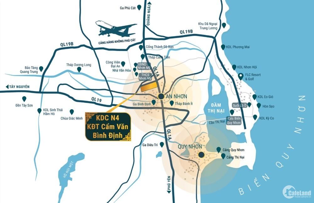 Sở hữu đất nền sổ đỏ An Nhơn – Liền kề quốc lộ 1A – Chỉ 11tr/m2