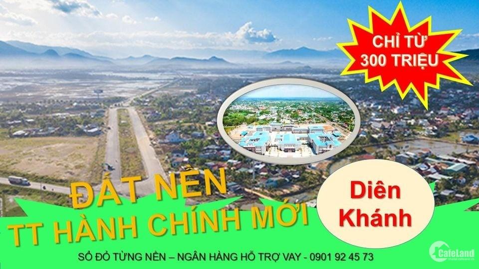 Chỉ 300 triệu sở hữu lô đất ven sông,TT Diên Khánh