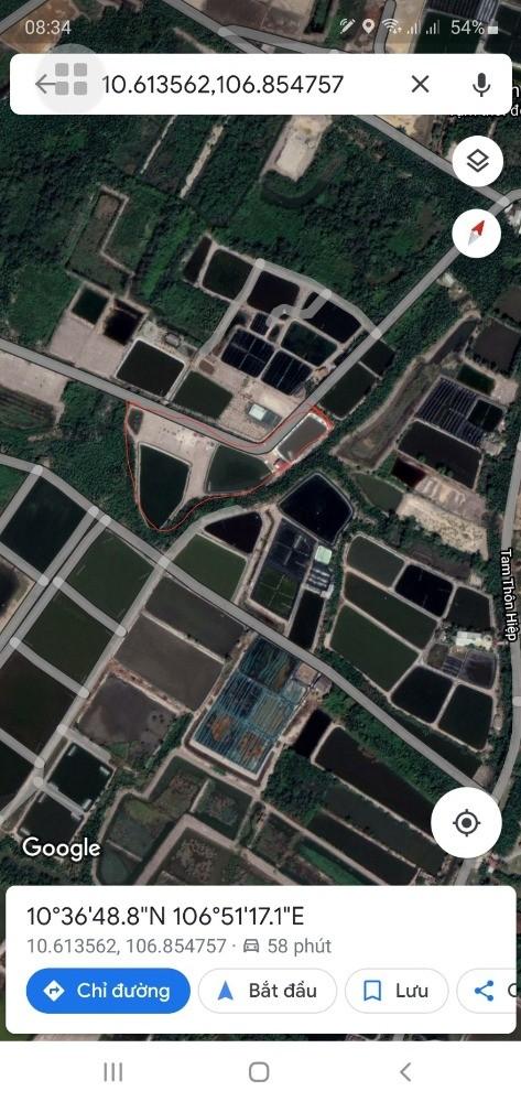 Bán Đất Sổ Hồng 500m2 (12x42 ). Tam Thôn Hiệp Cần Giờ
