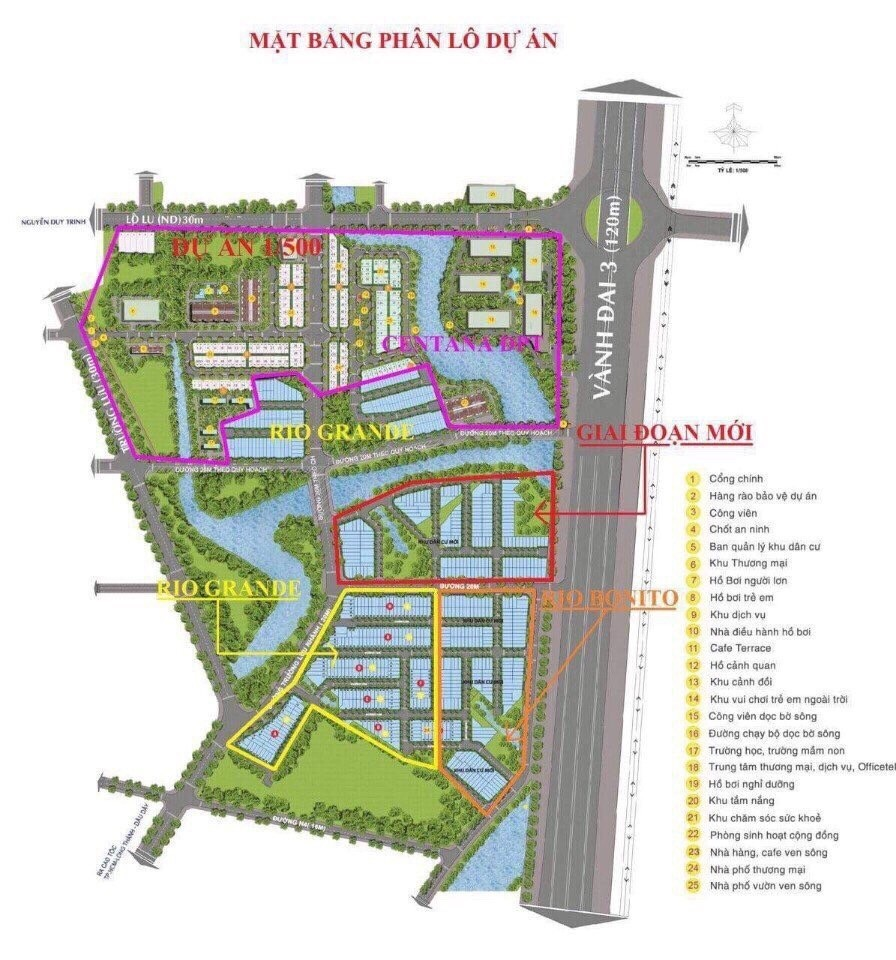 Trục đường 20m giá đầu tư trong centana điền phúc thành. Quận 9