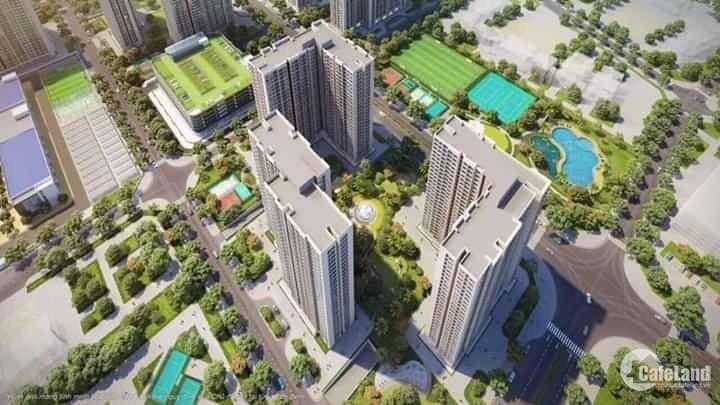 Chung cư 2PN+1 thông thủy 63m tầng thấp giá rẻ trả trước 377 triệu.