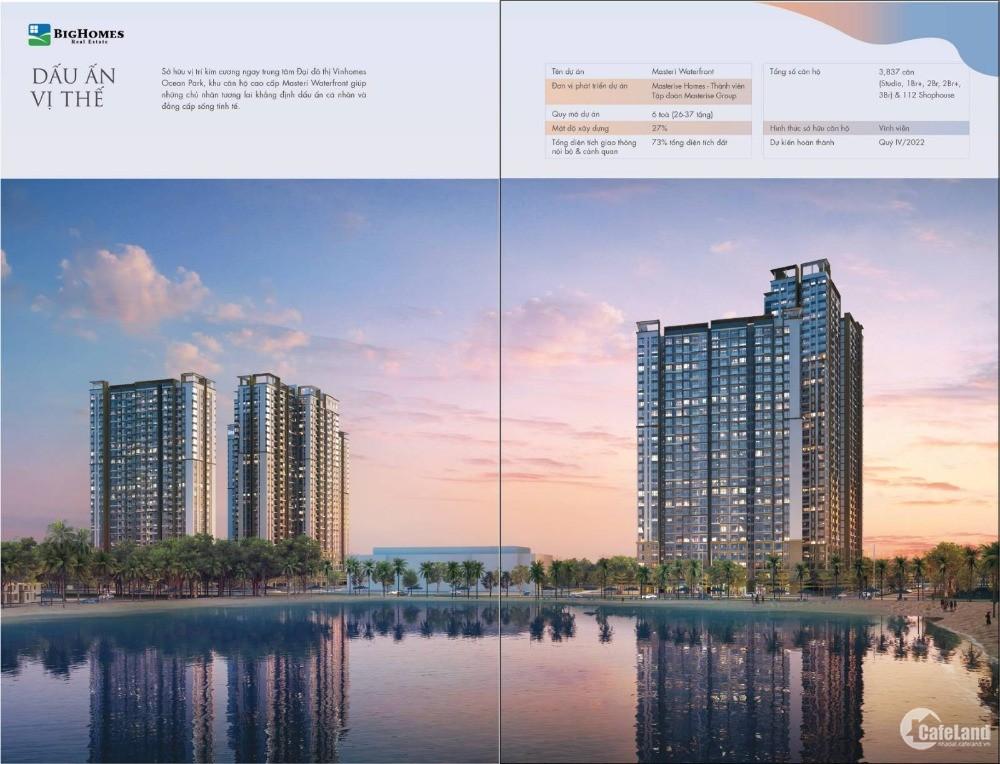 Siêu dự án cao cấp Căn hộ Masteri Waterfront, Vị trí kim cương - tiện ích 6sao