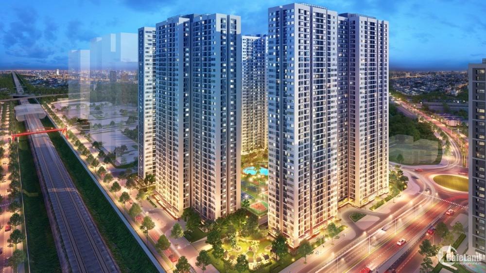 Trả trước 173 triệu (10%) sở hữu căn hộ 2PN+1 Vinhomes Smart City. Trả góp 70%,