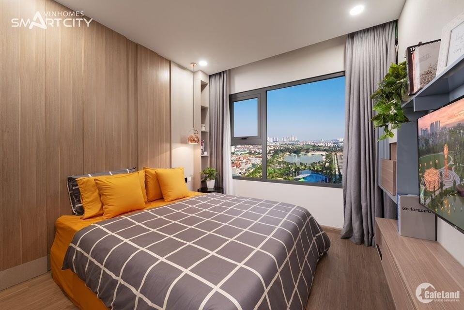 Trả trước 306 triệu nhận nhà ở ngay căn 2PN+1 Vinhomes Smart City. Vay 80%, lãi