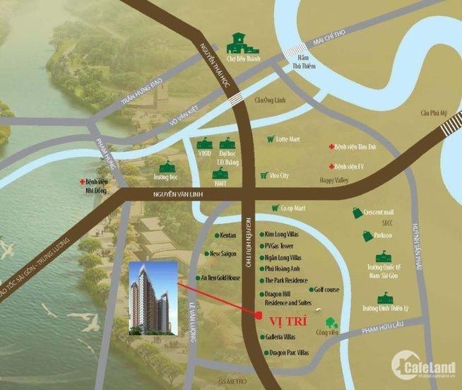 Đặt chỗ Căn hộ cao cấp Celesta Rise Keppel Land Nhà Bè chỉ 50tr/căn- 0936122125