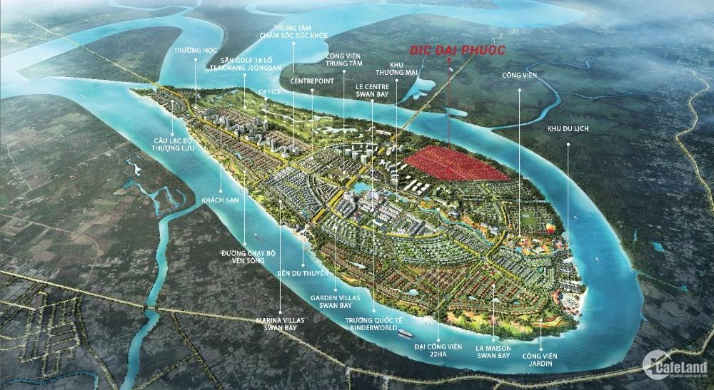 Đất nền DIC đảo Đại Phước đã có sổ, đối diện quận 7, Q2, 16 tr/m2, 400m2/nền
