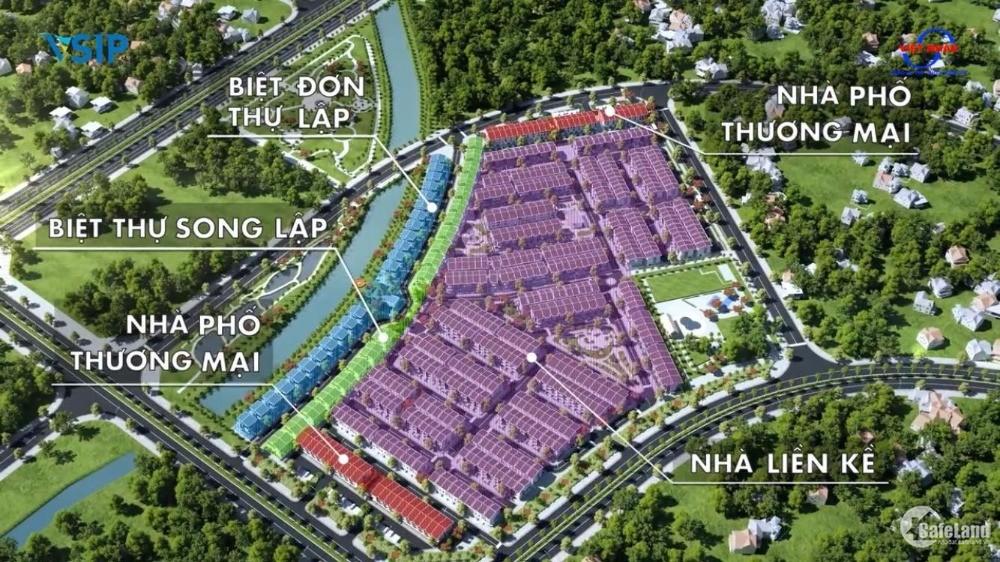 Belhomes Vsip Hải Phòng liền kề 75m2, 80m2, Giá trả trước chỉ từ 1,5 tỷ VNĐ