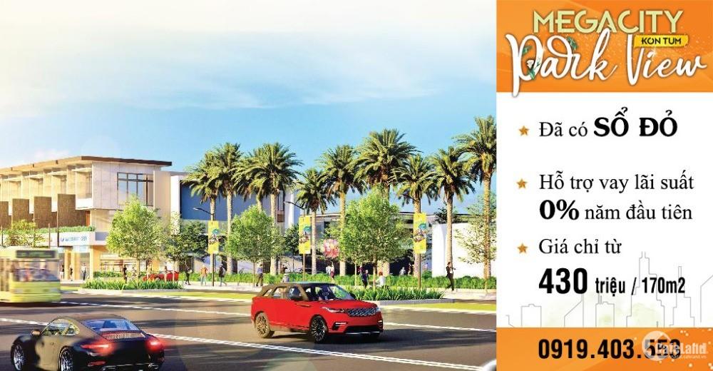 Mega City Kon Tum mở bán block liền kề công viên chỉ 230Tr/170m2